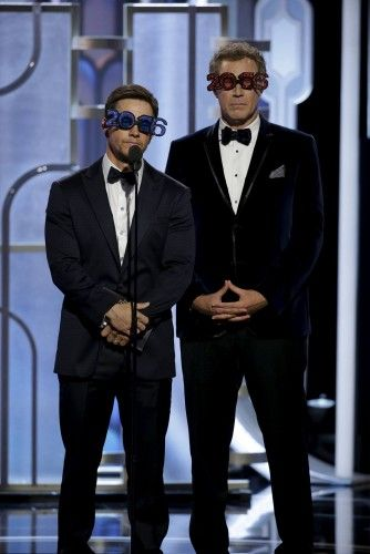 Handout of Wahlberg and Ferrell presenting at the 73rd Golden Globe Awards in Beverly Hills, California