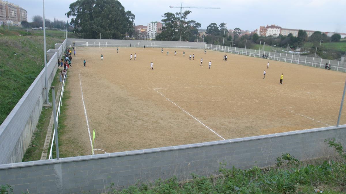 El campo de fútbol de La Luz