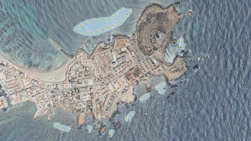 32 fondeos en Cabo de Palos para alejar las anclas de las praderas marinas