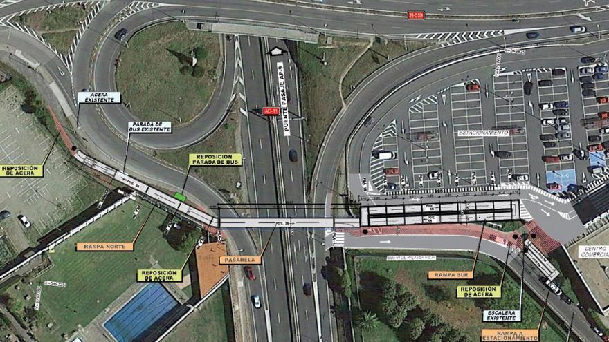 Adjudicadas las obras de la pasarela peatonal de Pedralonga