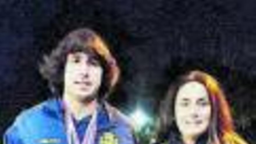 Sergio Méndez y Claudia Arias, medallas en la Copa Mundial