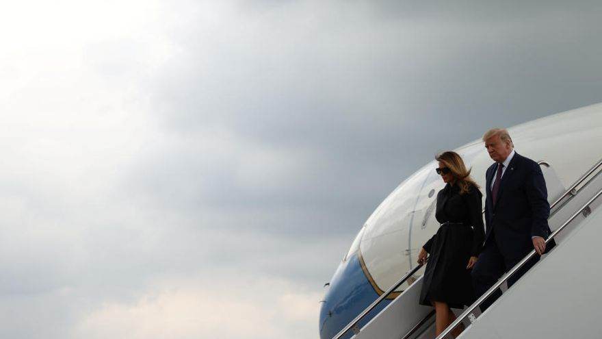 """Trump pide """"unidad"""" en el recuerdo de las víctimas del vuelo 93 el 11S"""