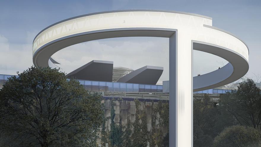 Así será el ascensor panorámico entre García Barbón y el Centro Vialia de Vigo