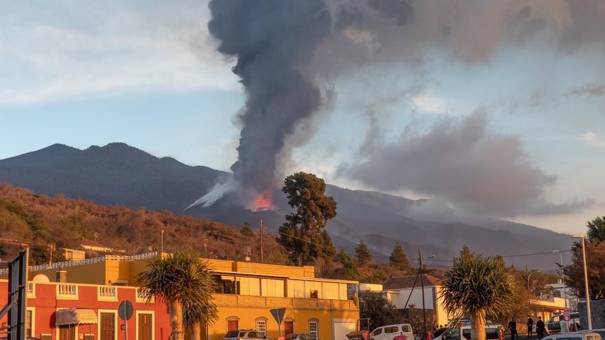 El volcán de La Palma desde el camino José Antonio Jiménez