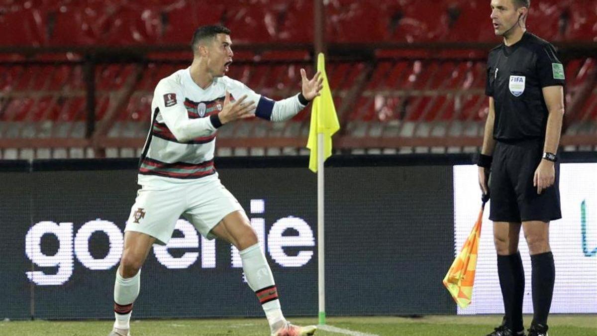 Cristiano Ronaldo estalla después de ver como le anulan un gol