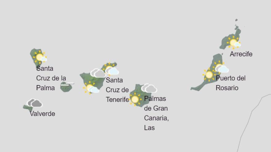 Canarias espera lluvias y subida de temperaturas para este sábado