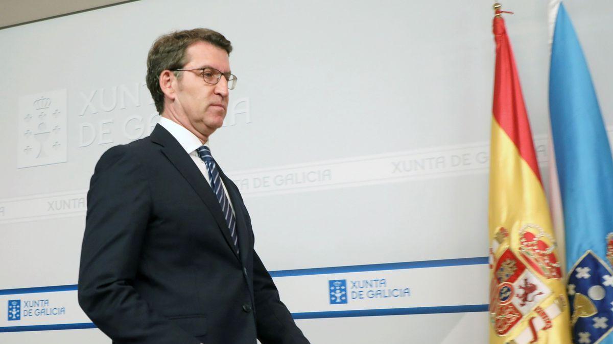 Feijóo, a su llegada a la rueda de prensa del Consello de la Xunta