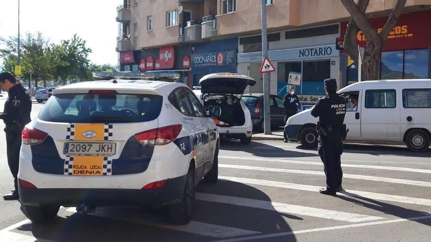 Denuncian en Dénia a conductores que venían de València, Oliva, Orba o Alcalalí