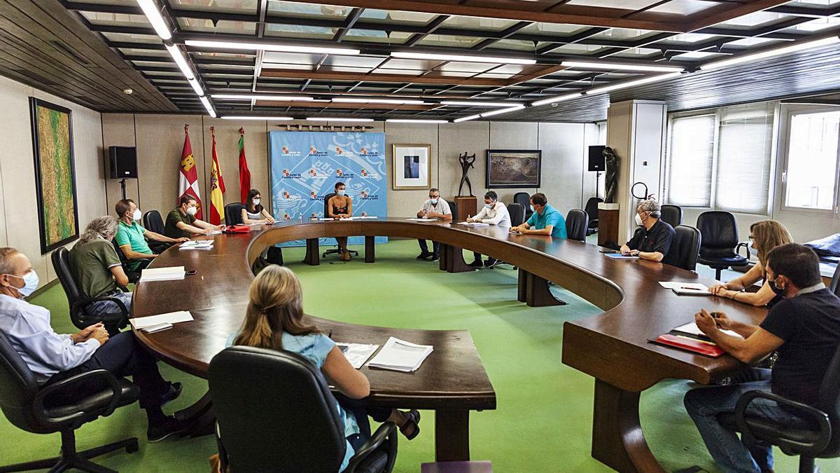 Desarrollo del Consejo Agrario Provincial de Zamora ayer en la Delegación Territorial de la Junta.   Nico Rodríguez