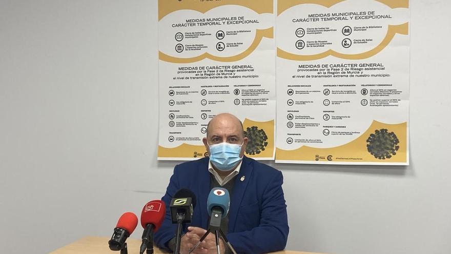 El Ayuntamiento de Cieza cierra sus instalaciones ante el aumento de contagios