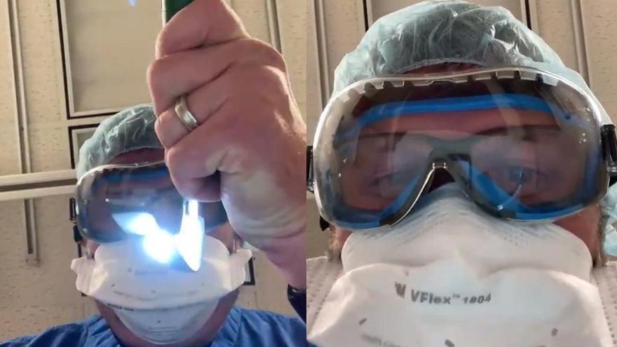 Un médico muestra lo último que ve un enfermo de coronavirus antes de morir