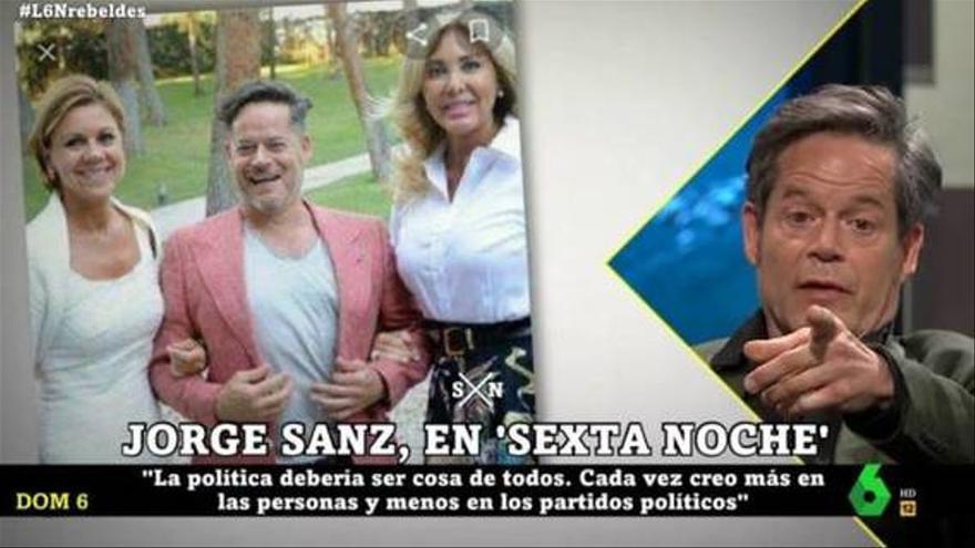 """Jorge Sanz y su divertido comentario tras recordar su foto con Cospedal: """"Le hundió la carrera"""""""