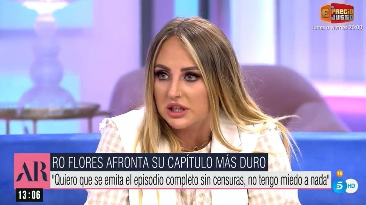 Rocío Flores en 'El programa de Ana Rosa'.