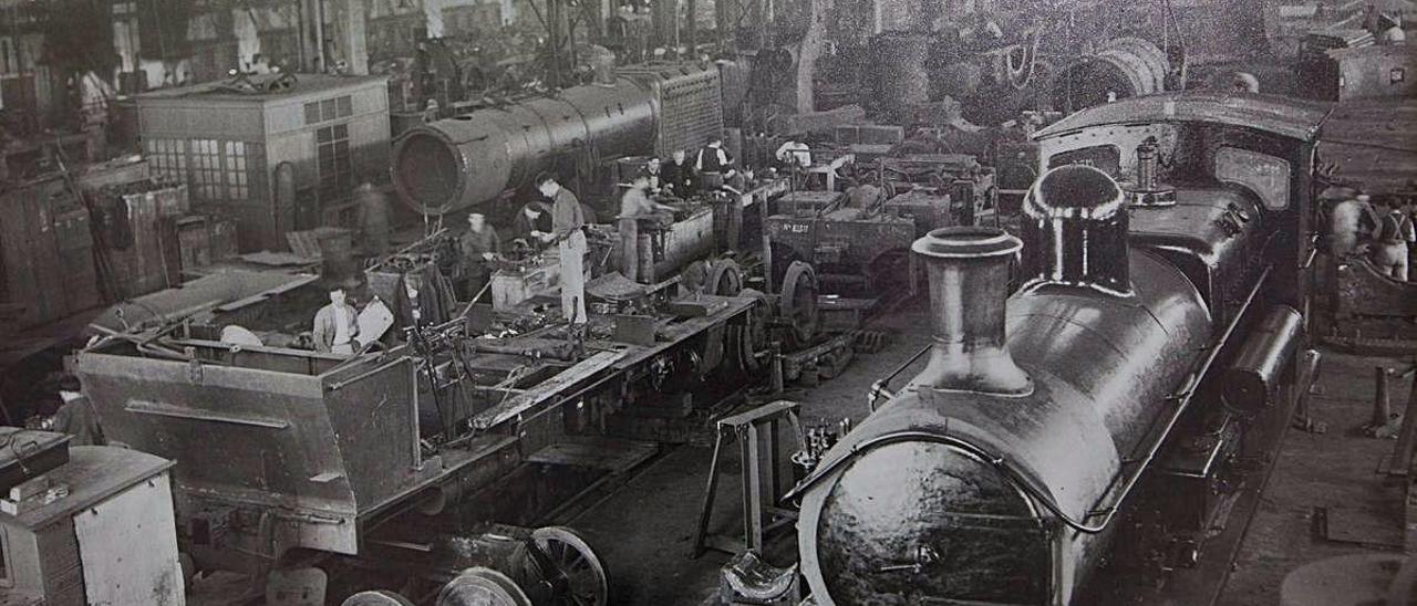 Instalaciones de la antigua siderurgia.