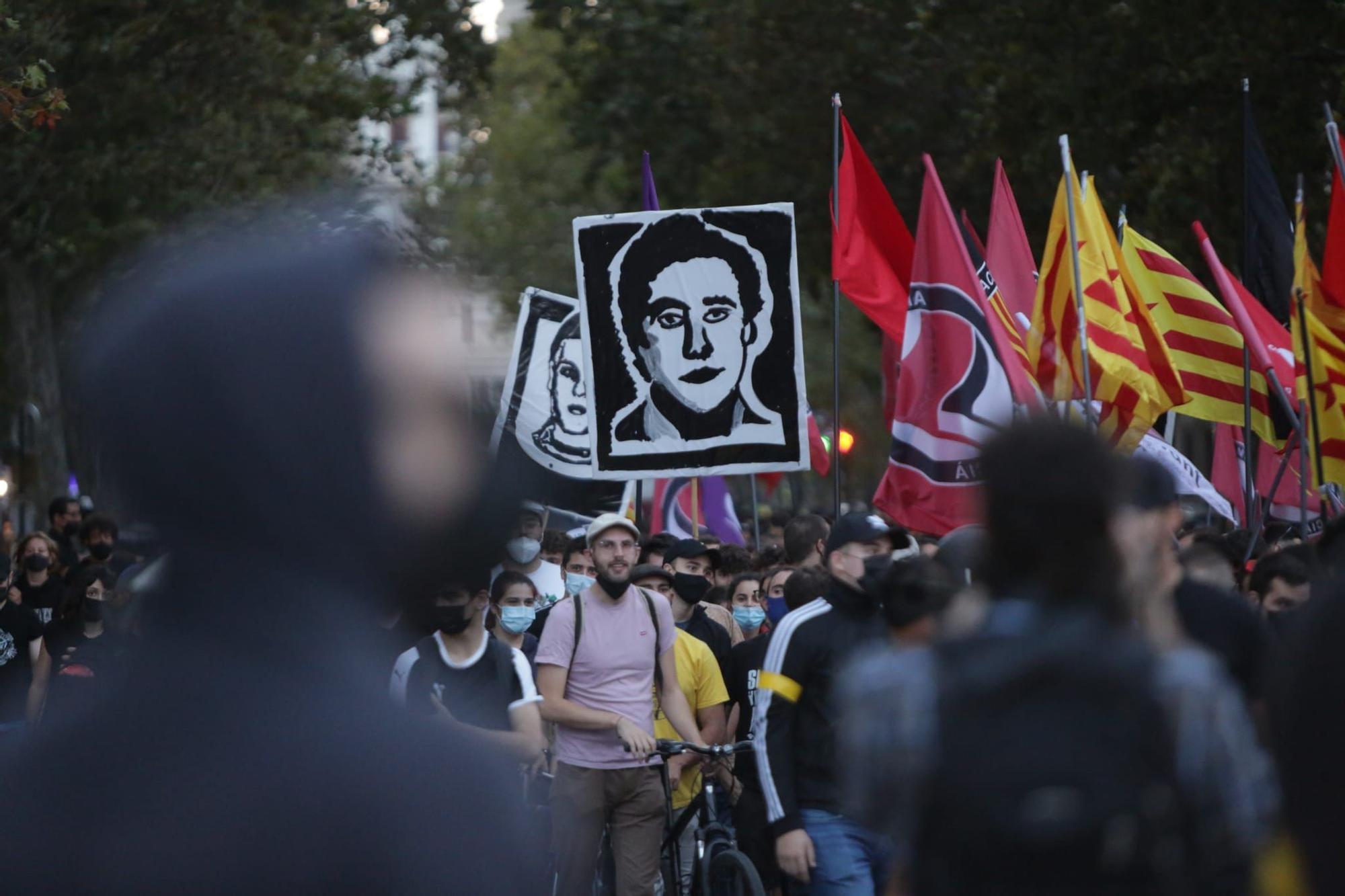 Así han sido las manifestaciones antifascistas del 9 d'Octubre en València