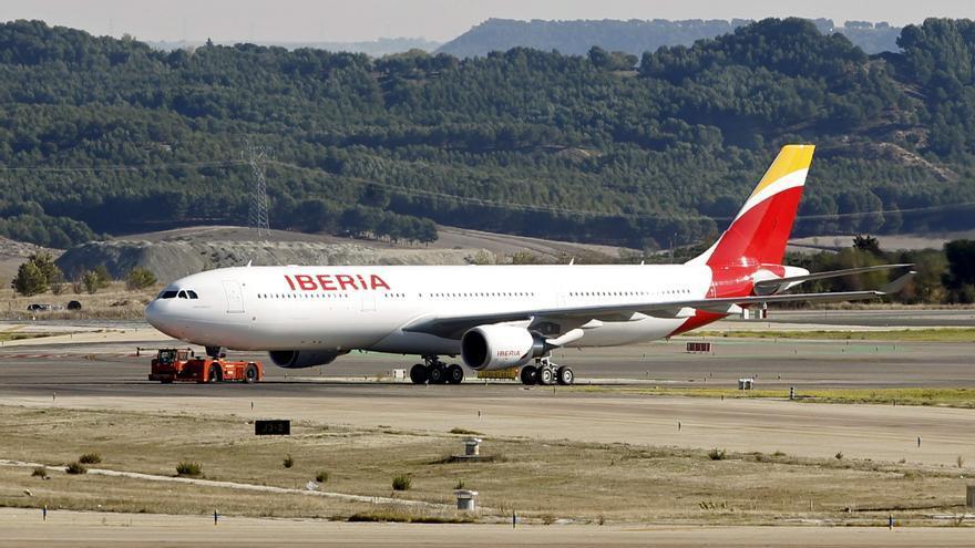 Un avión aterriza en Barajas con un buitre empotrado en su morro