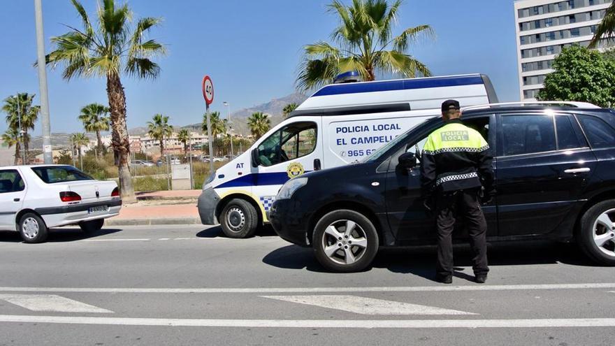 Una veintena de sancionados en El Campello en el primer día del operativo policial especial