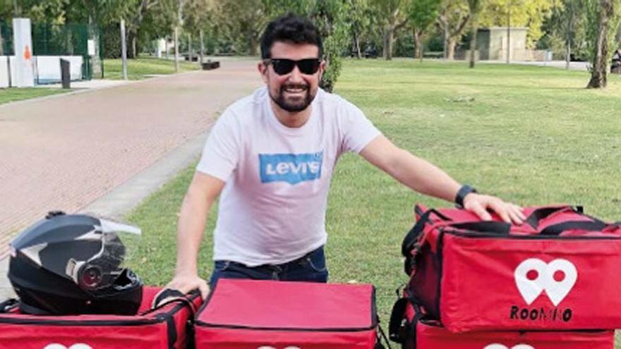 Un emprendedor de Verín se abre paso entre las grandes plataformas de reparto
