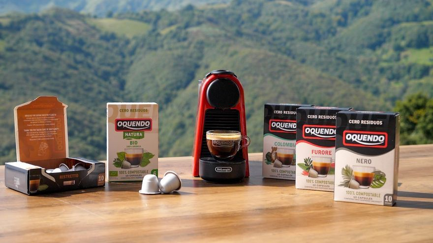 Cápsulas 100% compostables de Oquendo, el modo más sostenible de disfrutar del café