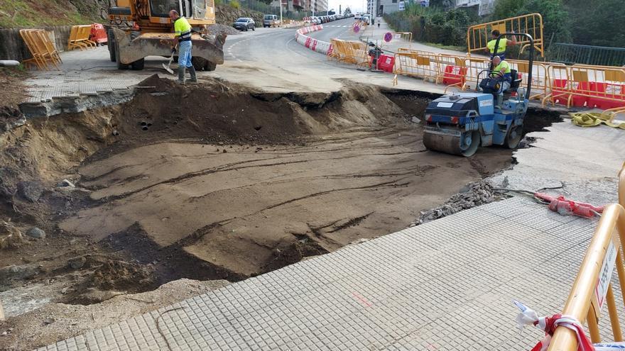 Instaladas las nuevas tuberías bajo la calle José Malvar