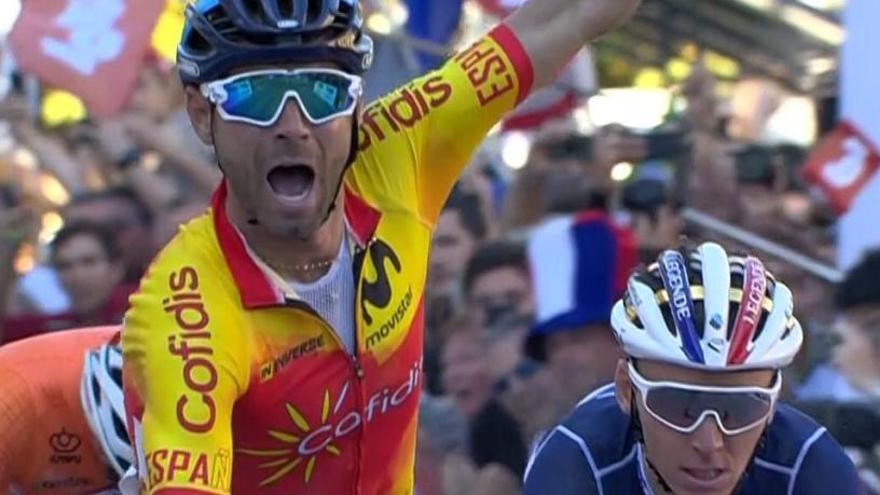 Alejandro Valverde es proclama campió del món de ciclisme