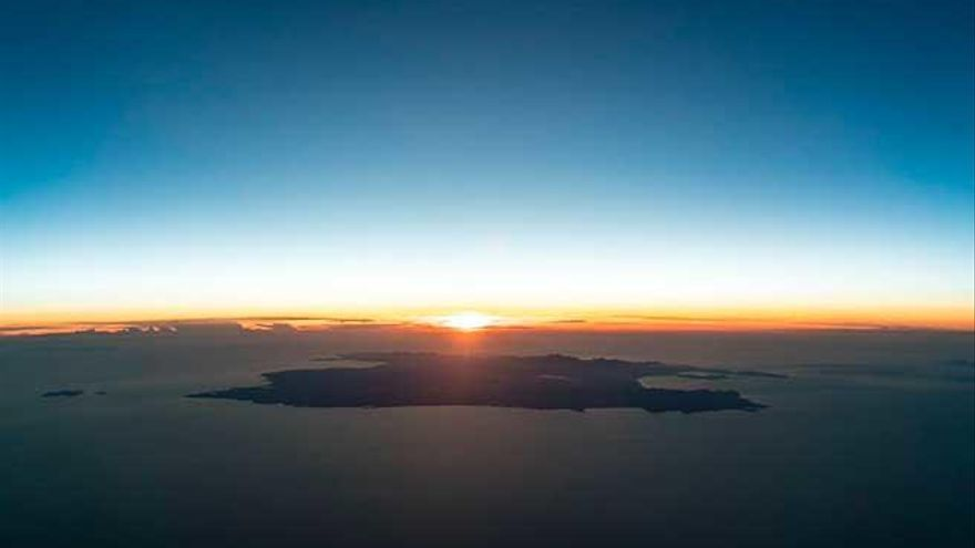 Mallorca, espectacular vista desde los mandos de un avión