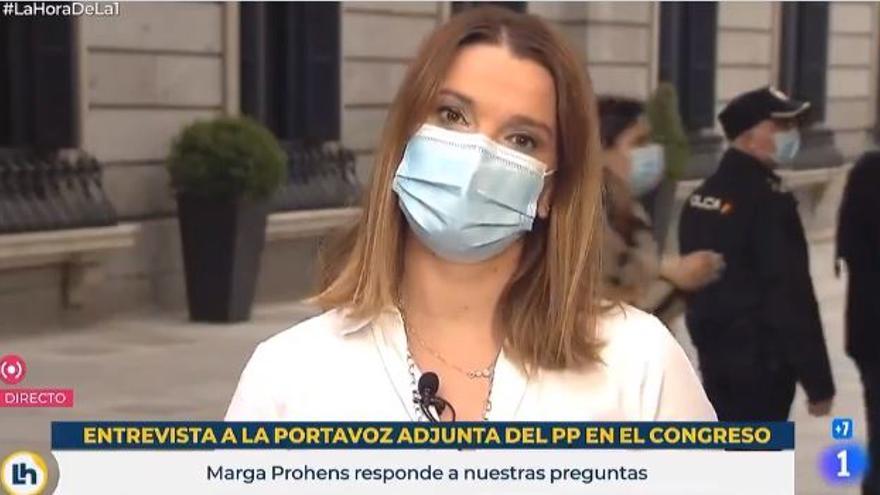 Duras críticas de Marga Prohens a Pedro Sánchez por no asistir hoy al Congreso
