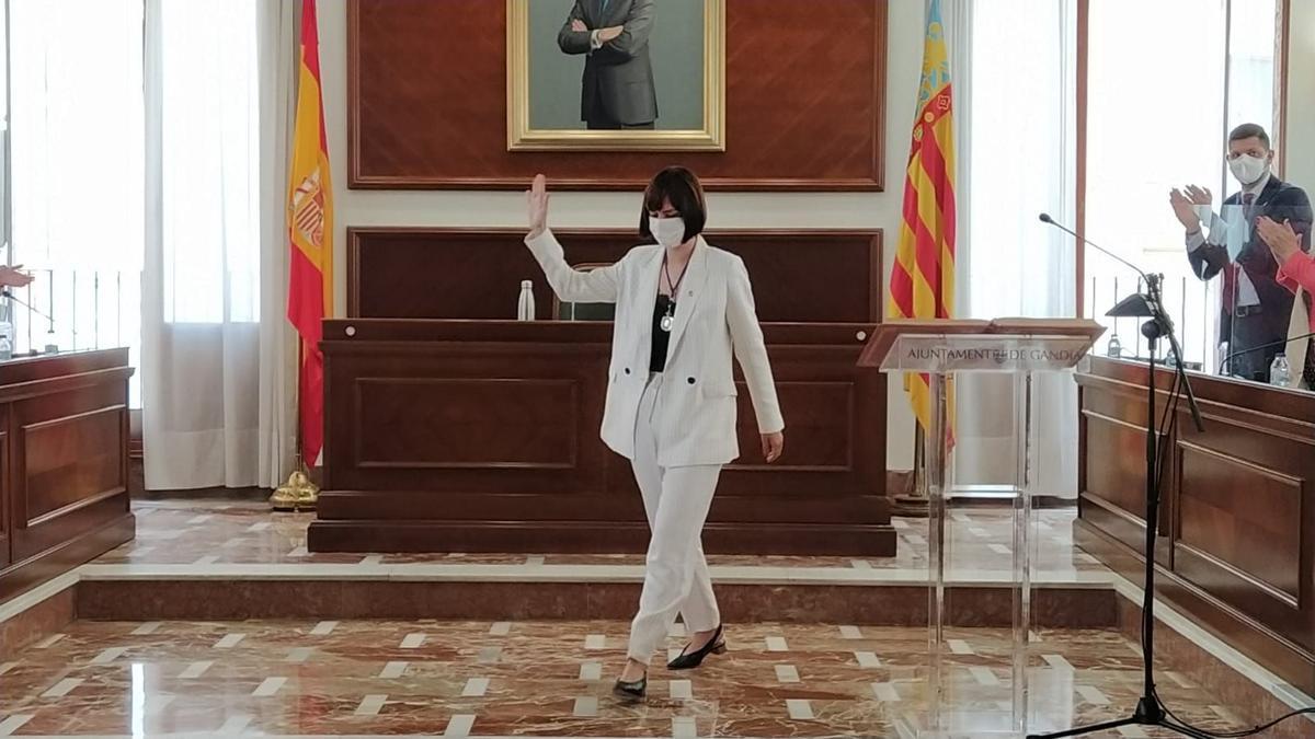 Diana Morant se despide como alcaldesa de Gandia.