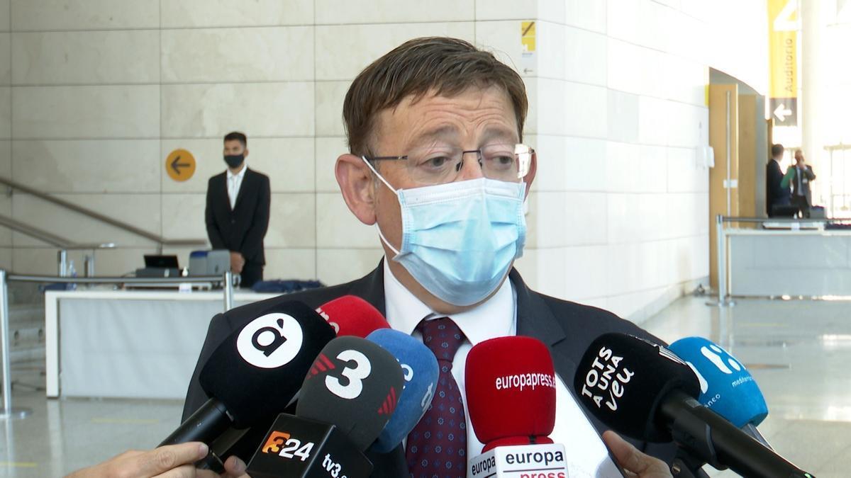 Ximo Puig declara sobre el acuerdo entre el Gobierno central y la Comunidad de Madrid