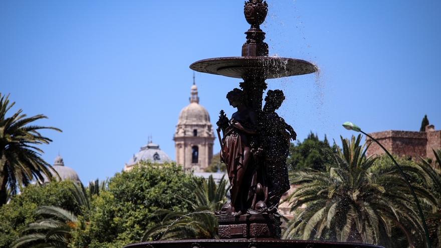 Málaga recupera la Fuente de las Tres Gracias tras su restauración