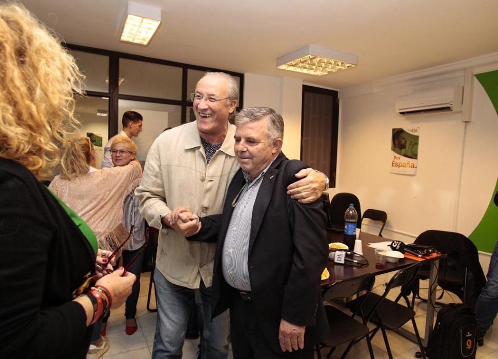 Vox celebra sus resultados en Canarias.