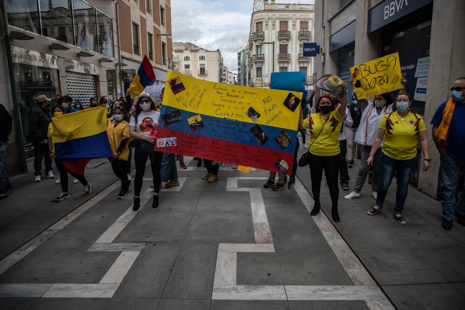 Marcha de colombianos en Zamora
