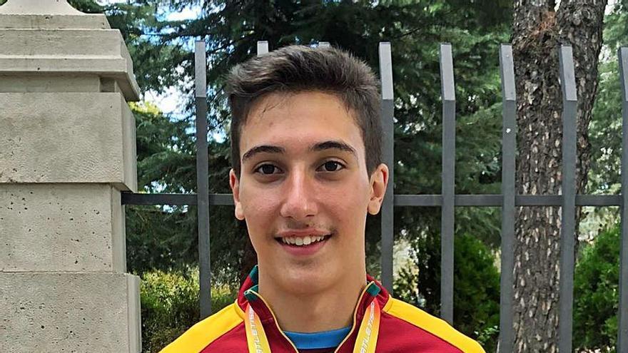 El atleta del Vino de Toro, Óscar Matilla, subcampeón de España Sub-20