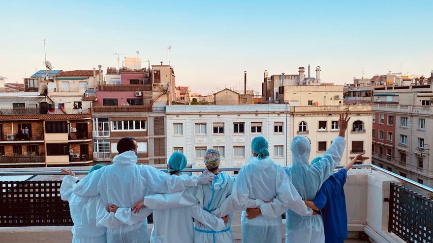 Una enfermera de Tarazona gana el concurso de fotografía de la profesión con una instantánea de la pandemia