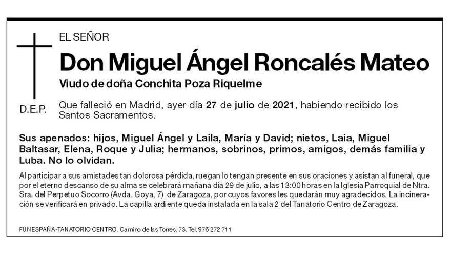 Miguel Ángel Roncalés Mateo