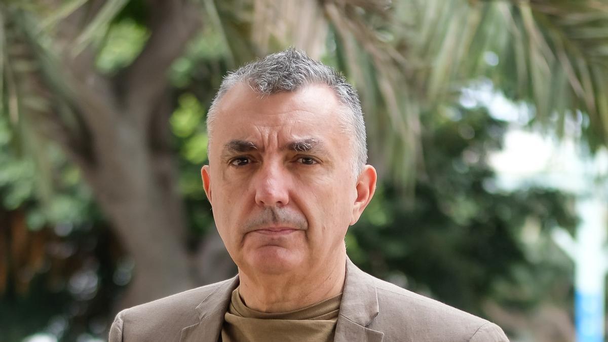 El escritor aragonés Manuel Vilas, ayer, en Las Palmas de Gran Canaria.