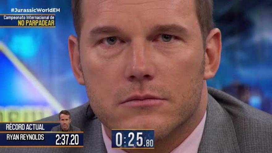 'El Hormiguero': Chris Pratt se hace con el récord de no parpadear