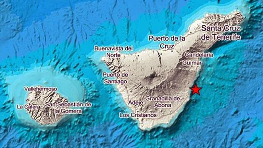 Terremoto de 3,2º en la costa de Fasnia