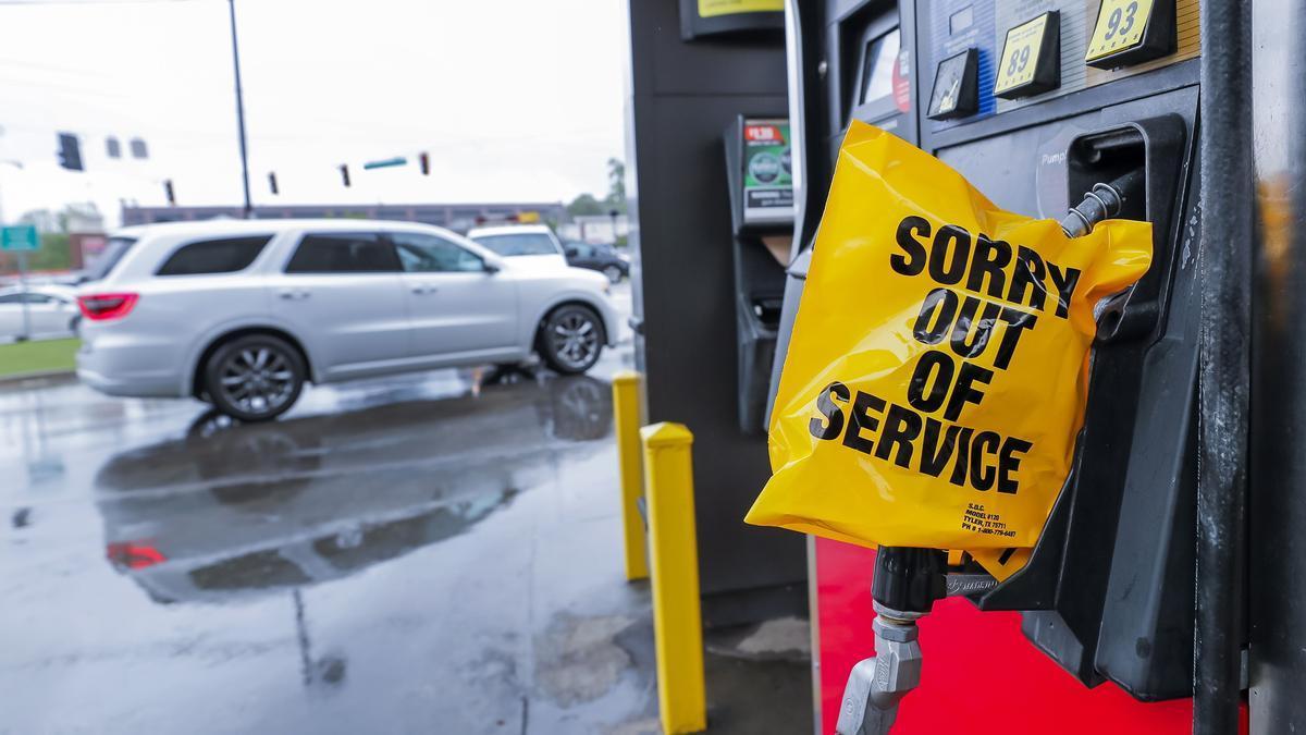 Un área de servicio sin gasolina en Atlanta.