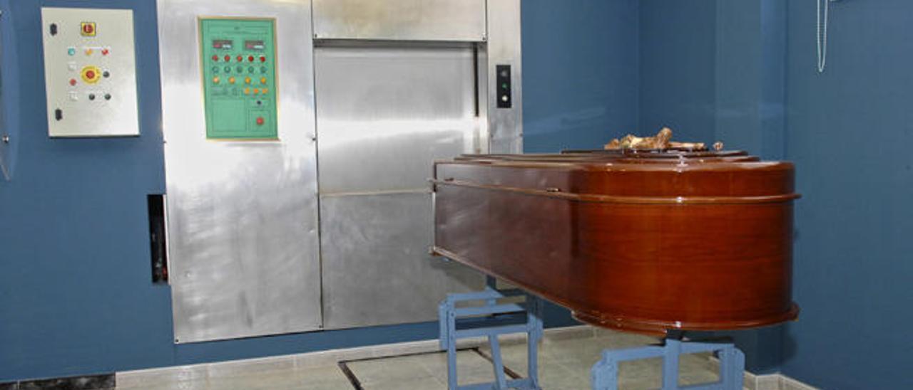 Cámara de incineración de un tanatorio de Las Palmas de Gran Canaria.