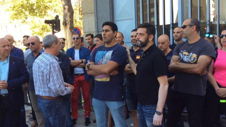 Los policías zamoranos exigen soluciones en Cataluña y apoyan a sus compañeros