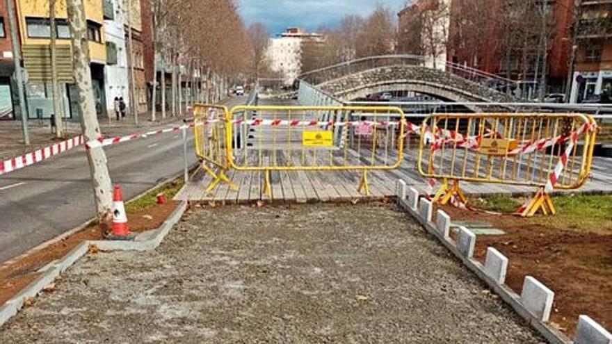 Reformes a l'accés al pont del Dimoni
