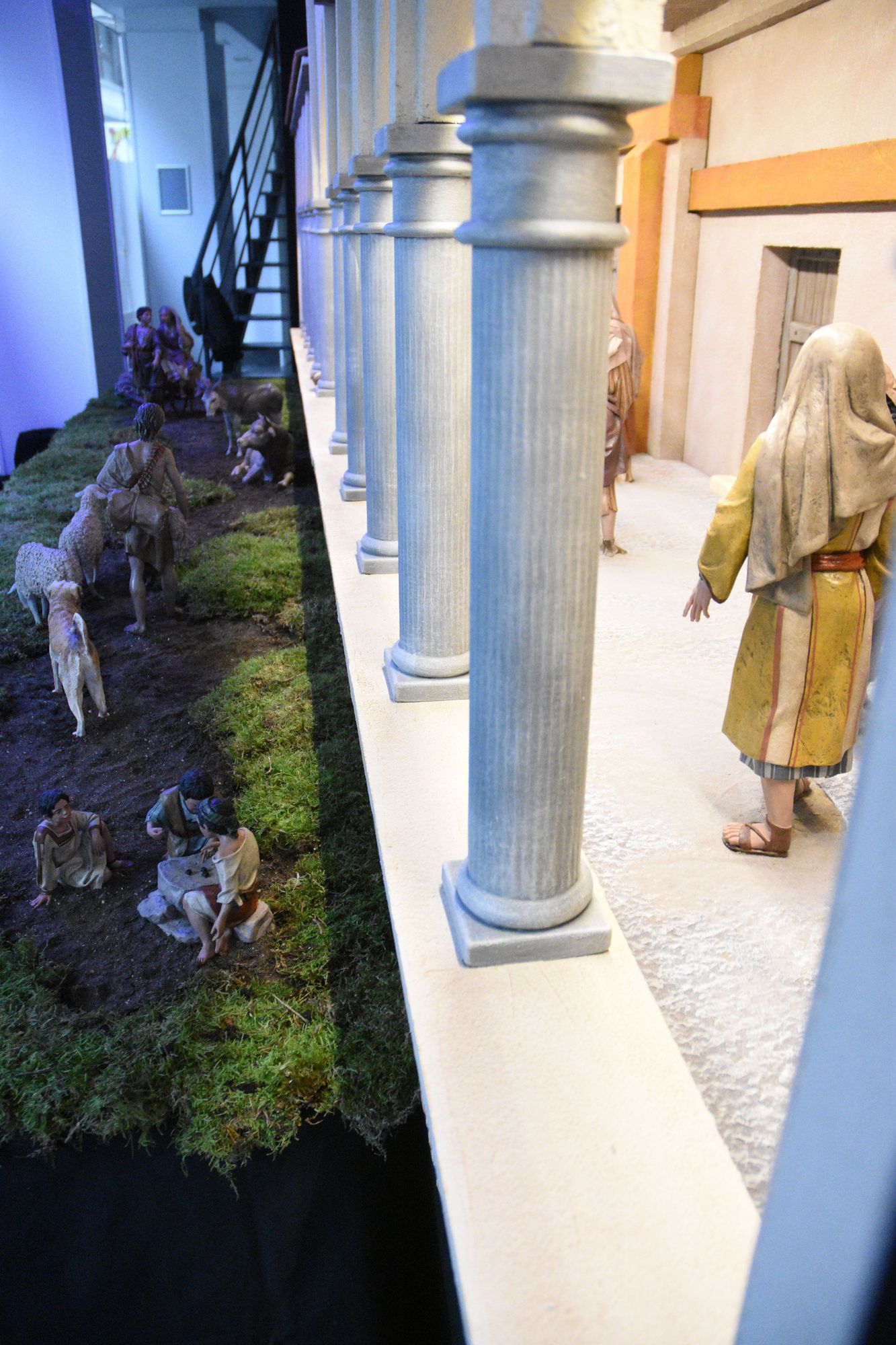 Así es el belén de Gijón dedicado a la villa romana de Veranes