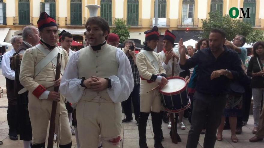 Homenaje al capitán Moreno en Málaga