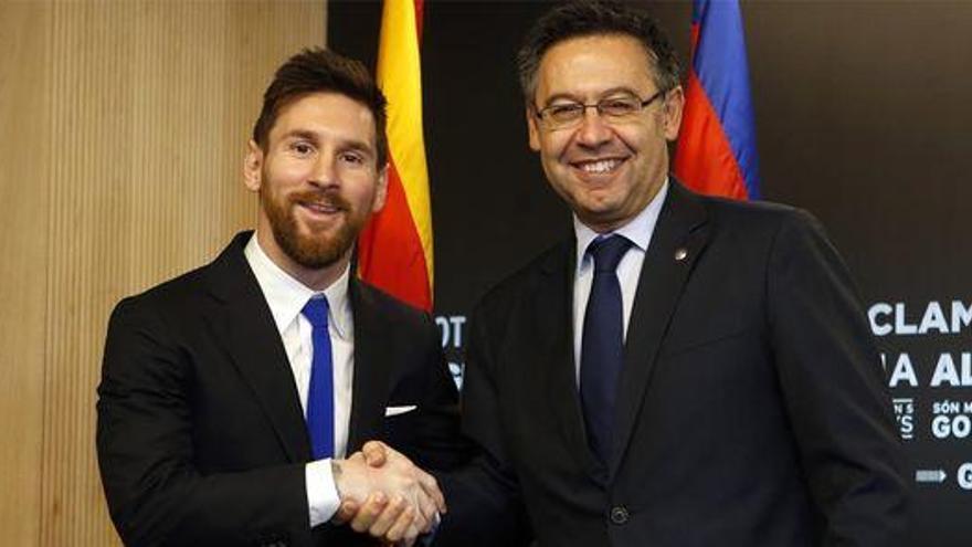 Bartomeu niega que haya filtrado el contrato de Messi