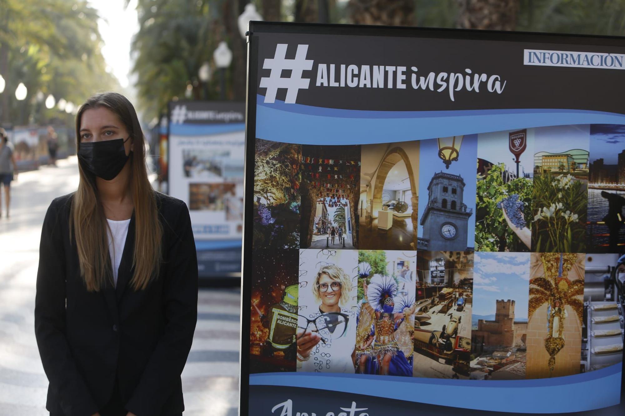 El paseo de la Explanada acoge la exposición #ALICANTEinspira