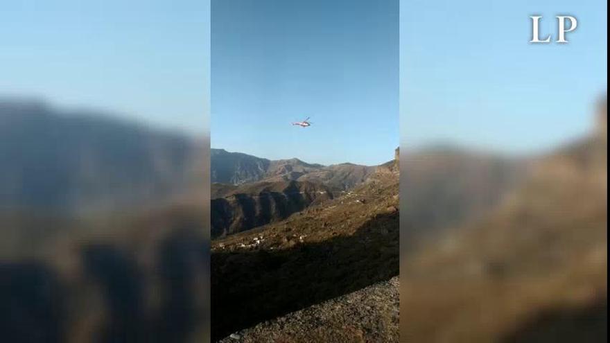 Rescate de unos montañistas en Ayacata