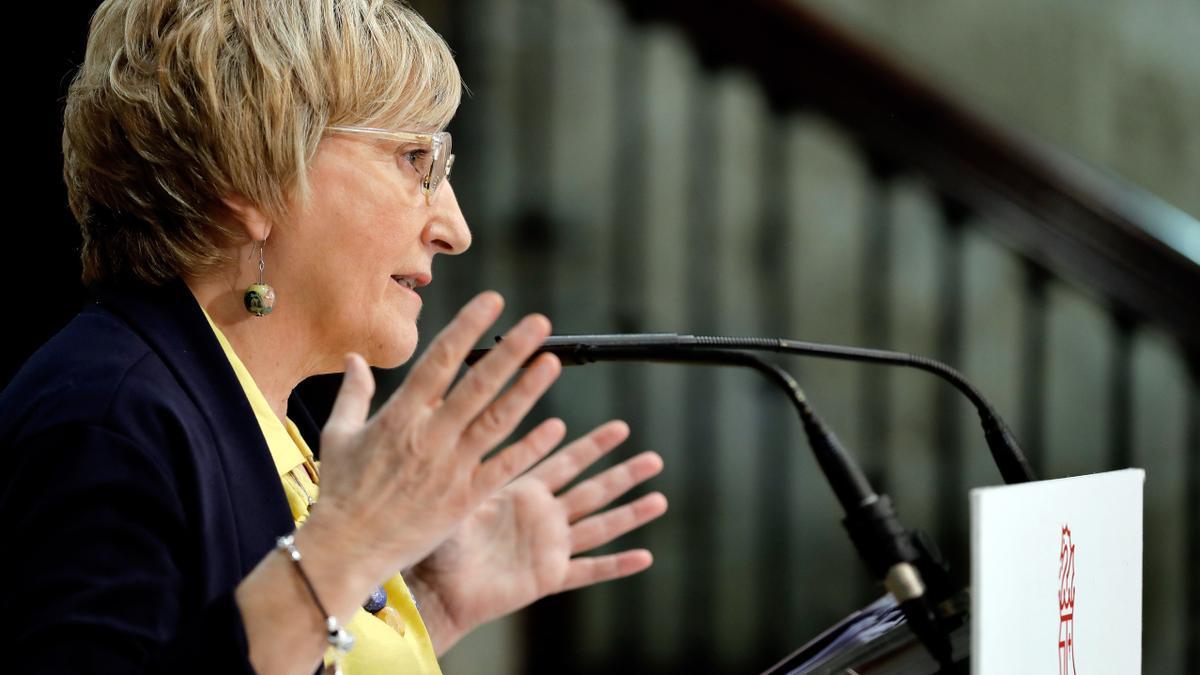 La consellera Barceló, en marzo del año pasado