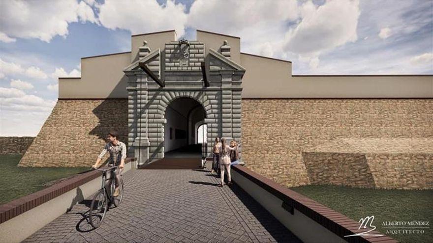 El patrimonio oculto de la puerta del Calvario de Olivenza sale a la luz