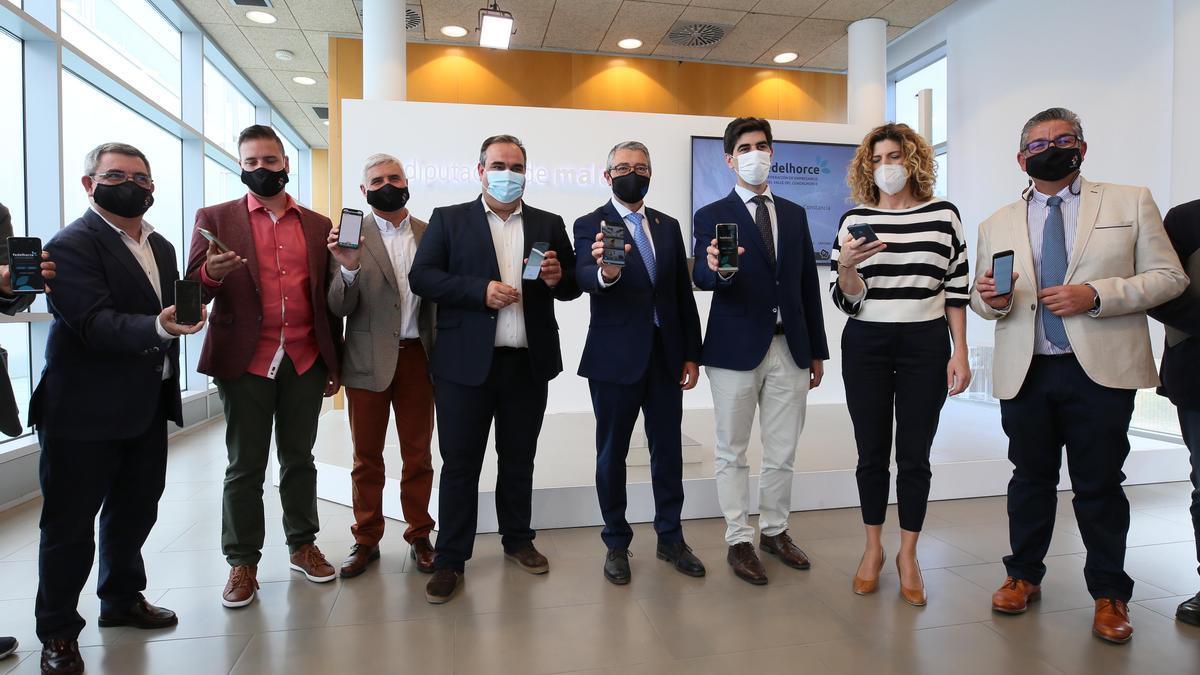 Empresarios de Fedelhorce en la presentación de la app en la Diputación de Málaga